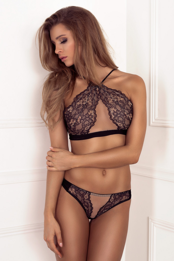 Sweetheart Black Lace Set