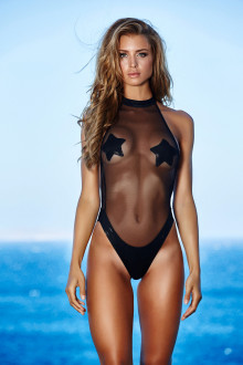 Black High-Neck Mermaid Swimsuit