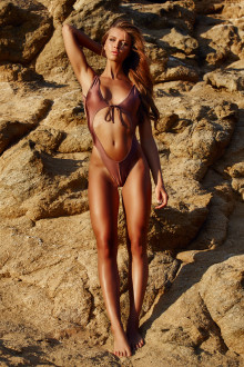 Bronze Open Front Swimsuit