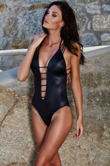 Strappy Wetlook Swimsuit