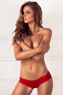 Lace Front Red Brief