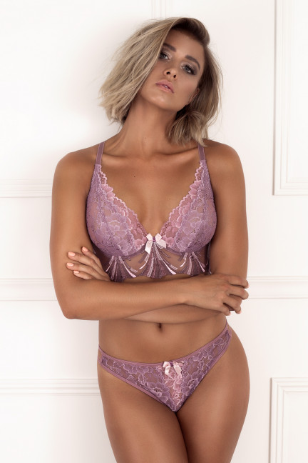 Dusty Plum Longline Bra
